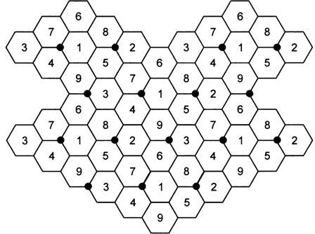 Схема сотовой сети. Пример